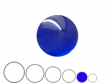 Jac Products Ocean Blue Translucent 70mm Acrylic Contact Ball
